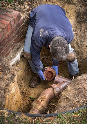 sewer line repair greenville sc